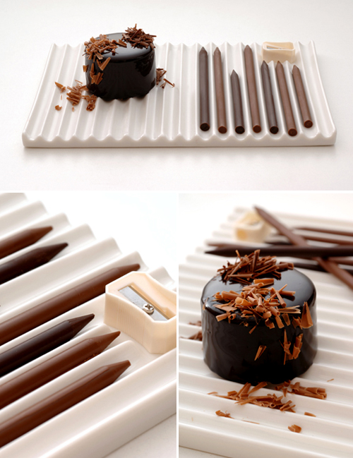 chocolate pencils as dessert the style files. Black Bedroom Furniture Sets. Home Design Ideas