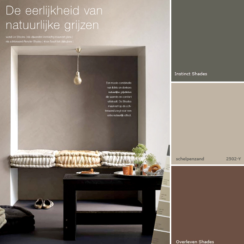The Rich Grey And Brown Colours Give A Warm Atmosphere To Room Color On Photo Is From Shades Collection Velvet Powder Has Been Added