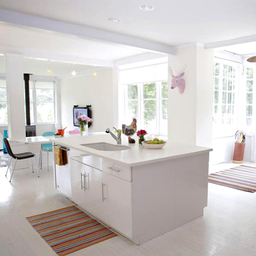 White Kitchen Cabinets Large Island: White Kitchens & Dining Areas