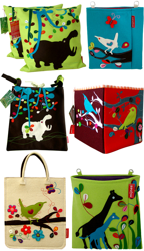 vilt bags and pillows for kids
