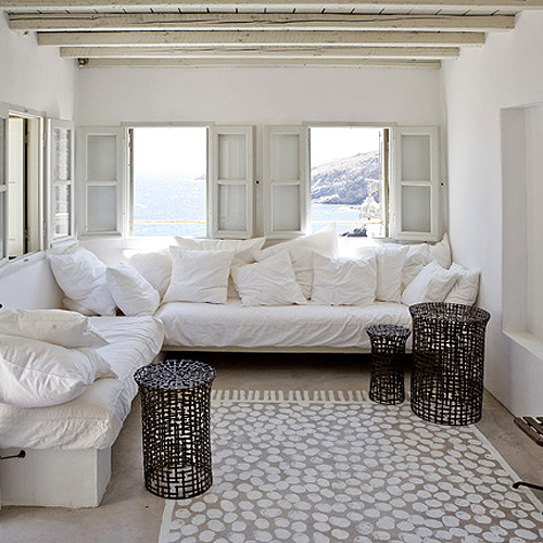 paola navone s home in greece the style files. Black Bedroom Furniture Sets. Home Design Ideas