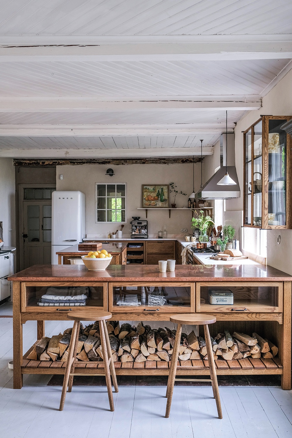A Cosy Kitchen In A Swedish Countryside Cottage The Style Files